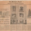 1985-04-08 Philadelphia Inquirer Florida artists gift to America White House II sm WHR