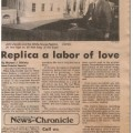 1986-12-13-14 Green Bay News Chronicle Replica a labor of Love small WHR