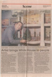1986-12-12 Green Bay Press-Gazette Artist brings White House to people 350 small WI